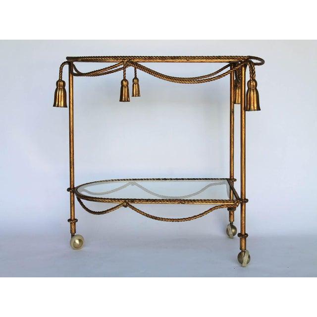 Rope & Tassel Bar Cart - Image 3 of 6