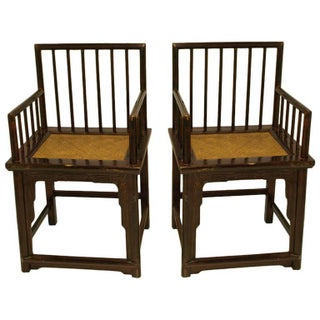 Chinese Huanghuali Style Chairs - Pair