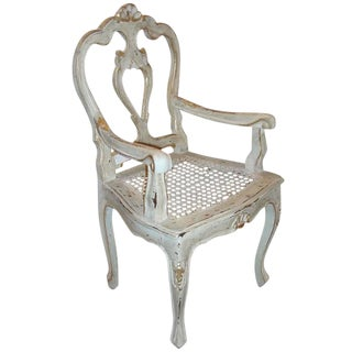 Louis XV Style Gilt Decorated Arm Chair