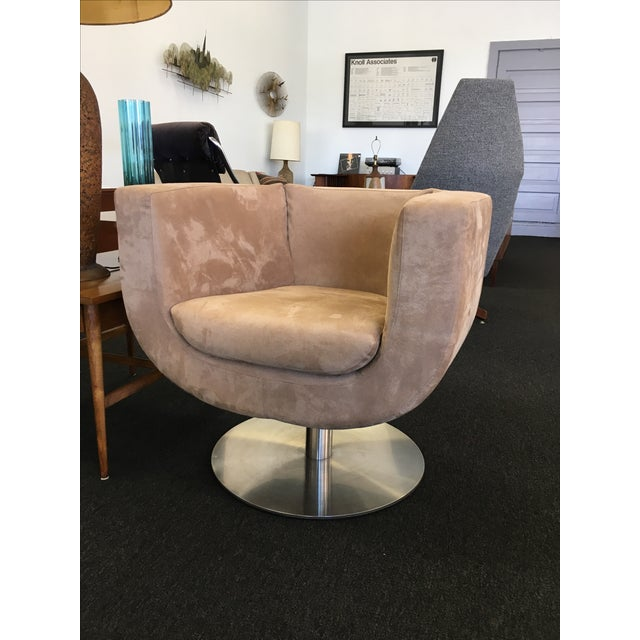 Triumph Microsuede Tulip Chairs - A Pair - Image 2 of 8