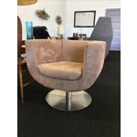 Image of Triumph Microsuede Tulip Chairs - A Pair