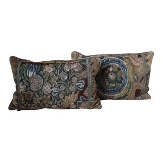 18th Century Tapestry Pillows - A Pair