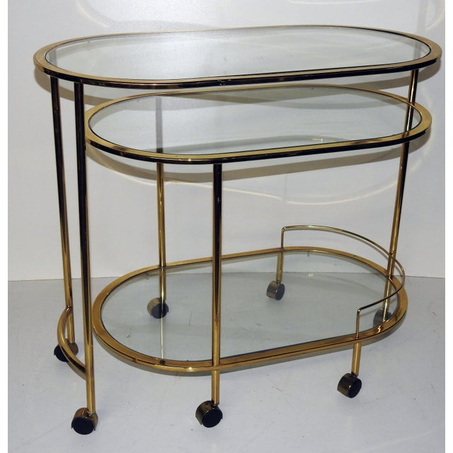 mid century modern bar cart or cocktail table chairish. Black Bedroom Furniture Sets. Home Design Ideas