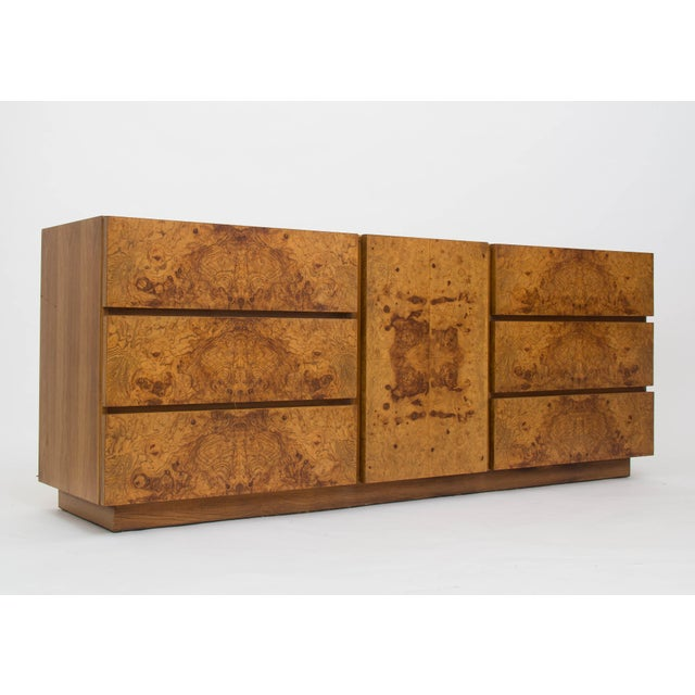 Olive Burl Wood Credenza or Dresser by Milo Baughman for Lane - Image 6 of 8