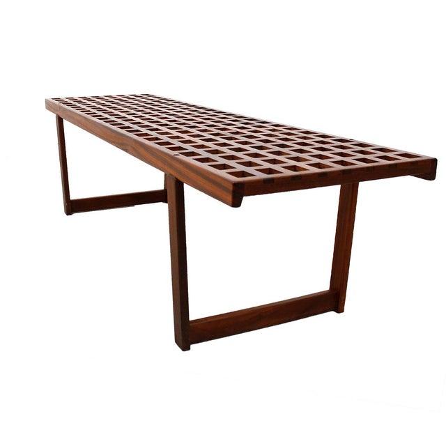 Lattice Coffee Table Bench By Lovig Chairish