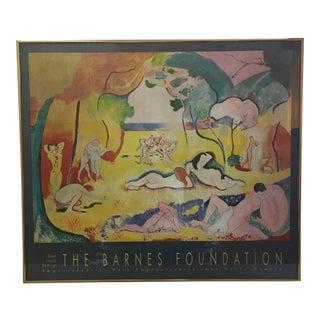 Vintage Framed Barnes/Matisse Exhibition Poster