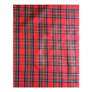 Ralph Lauren Holiday Red Tartan Silk Taffeta - 4.5 Yards