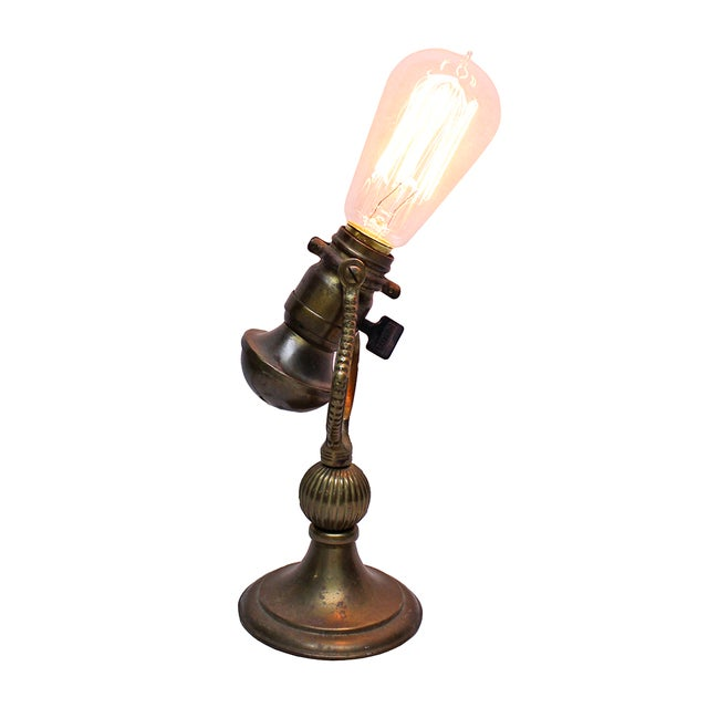 Image of Vintage Brass Desk Lamp