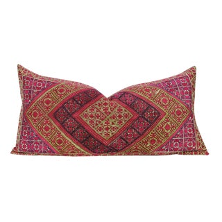 Embroidered Diamond Antique Swati Pillow