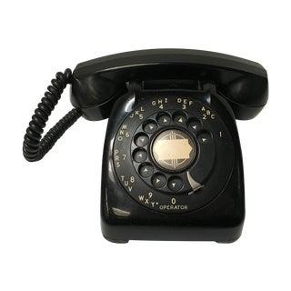 Vintage Leich Black Bakelite Dial Telephone