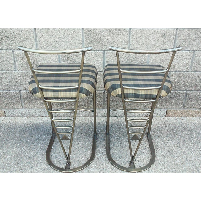 Milo Baughman Bar Stools -- A Pair - Image 6 of 10