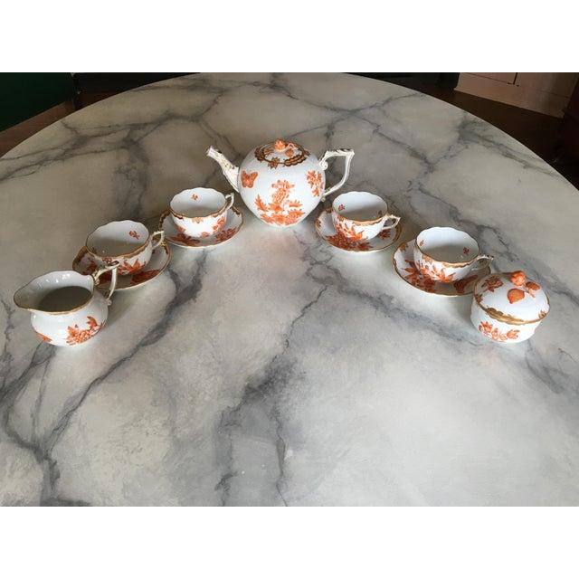 Herend Fortuna Pattern Tea Set - Set of 7 - Image 3 of 11