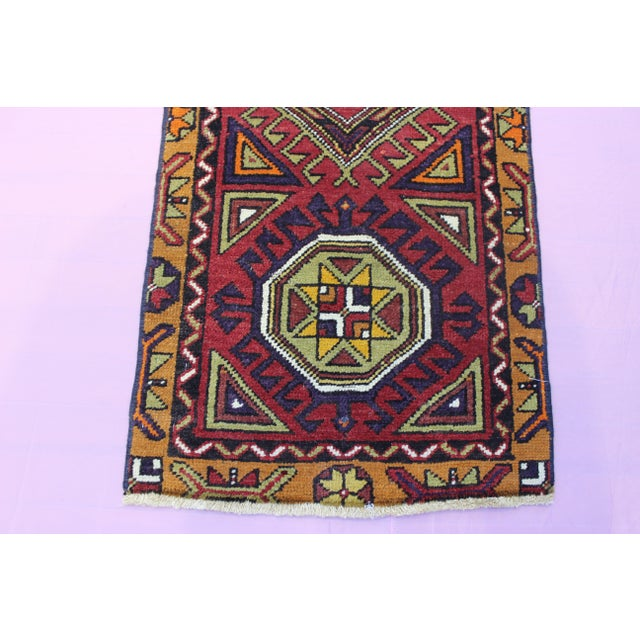 "Turkish Oushak Doormat Rug - 1'9 X 3'9"" - Image 3 of 8"
