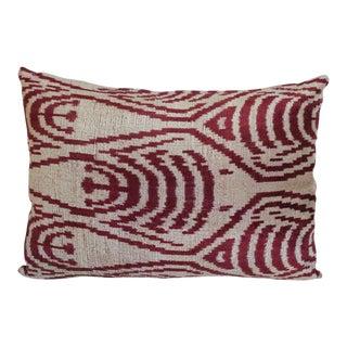 Handmade Silk Velvet Accent Pillow
