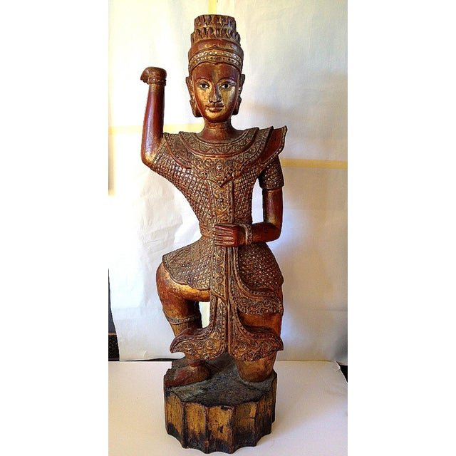 Large Wooden Dancing Figure - Image 2 of 11