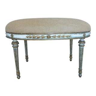 Neoclassical Painted Bench
