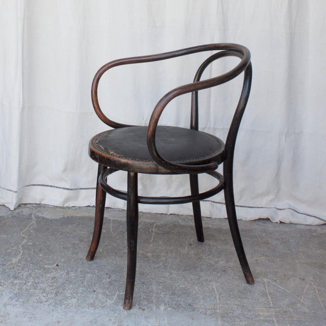 vintage french bentwood arm chair chairish