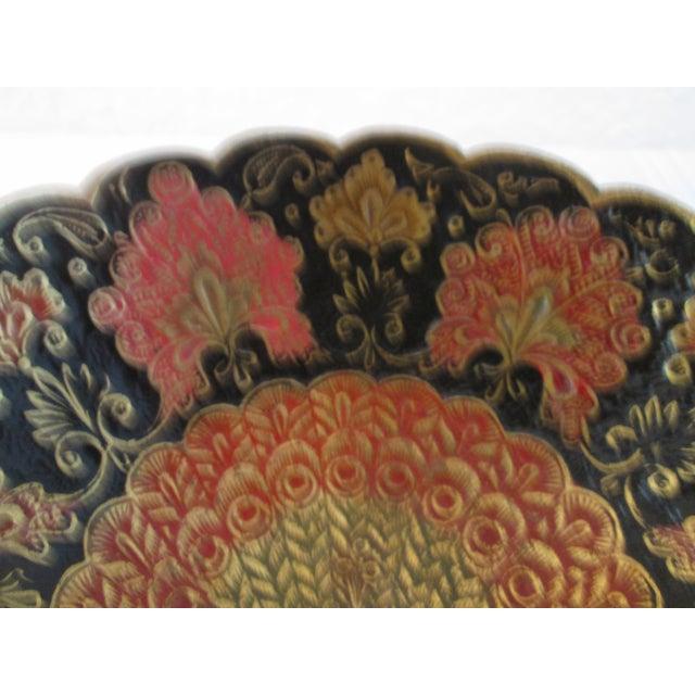 Indian Brass & Enamel Peacock Bowl - Image 6 of 8