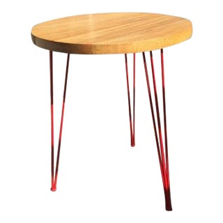 HD Buttercup Wood-Top Side Table