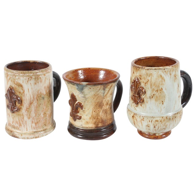 Belgium Mugs By Guerin Pottery - Set of 3 - Image 1 of 5