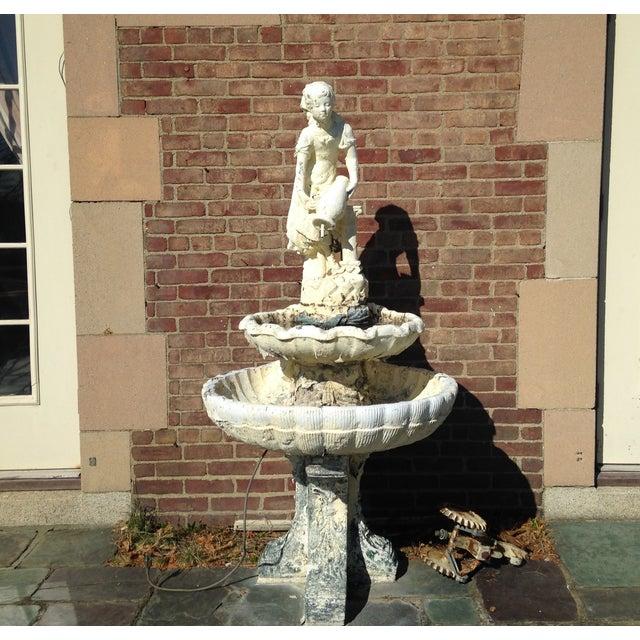 Vintage 1929 Outdoor Garden Fountain - Image 3 of 11