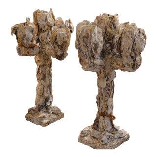 Oyster Five-Arm Candelabras - A Pair