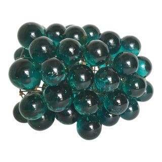 Turquoise Blue Lucite Grape Cluster