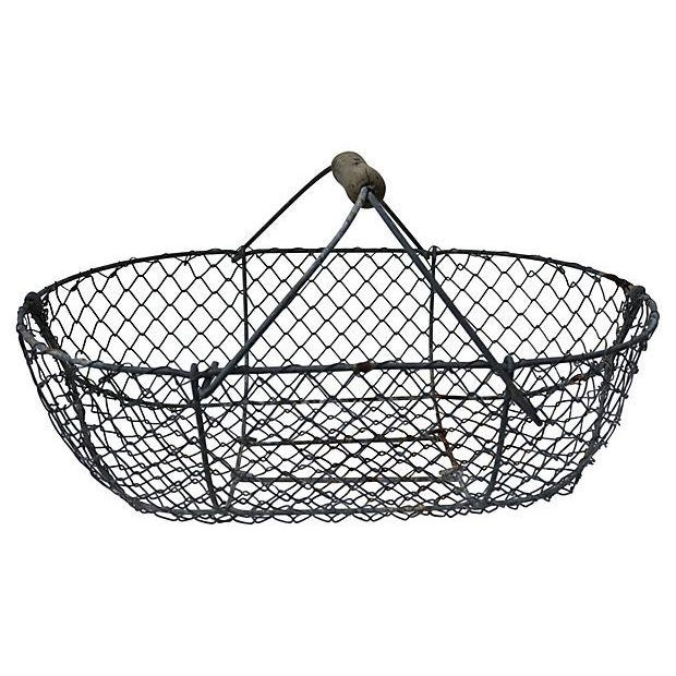 Image of 1930s French Oyster Gathering Basket