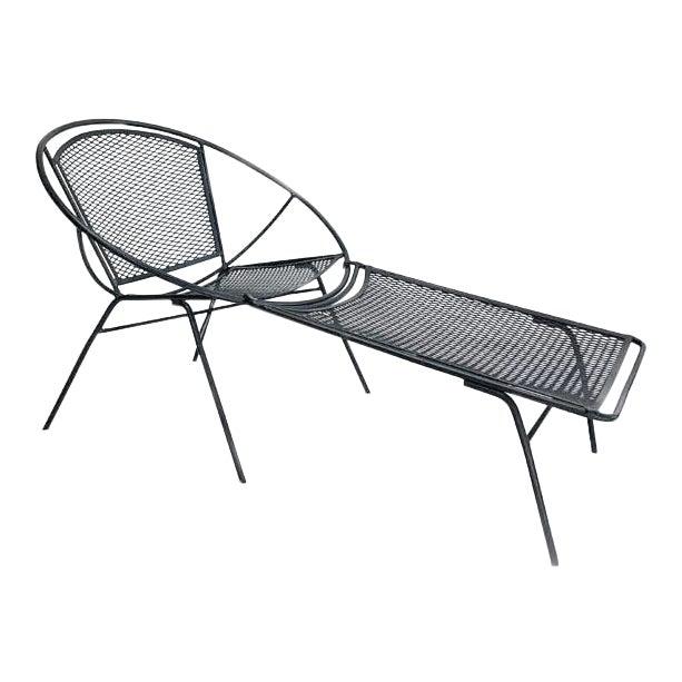 Mid century salterini hoop chaise lounge chair chairish - Mid century chaise lounge chair ...