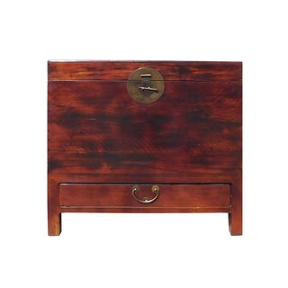 Chinese Moon Face Trunk Storage Chest