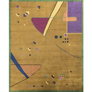 Modern Hand Knotted Wool Rug - 8′1″ × 10′