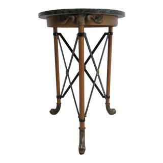 Theodore Alexander Serpent French Regency Marble Top Lamp End Table