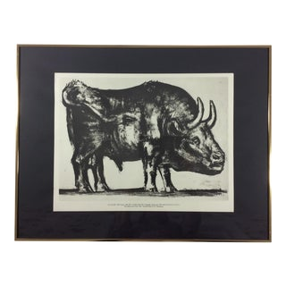 """Vintage """"The Bull"""" Pablo Picasso Print"""