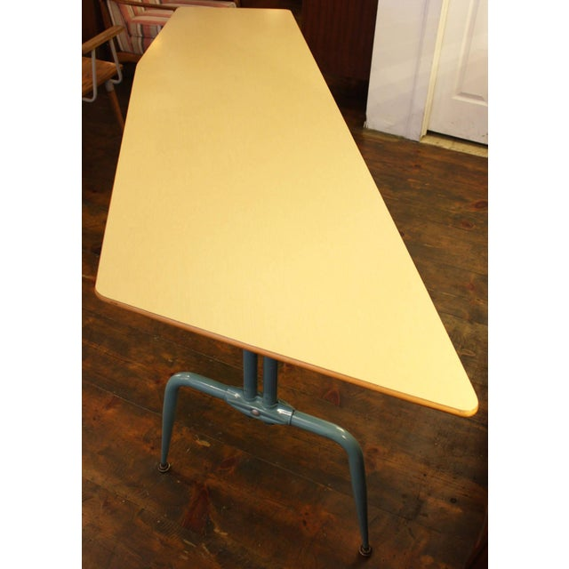 Image of 1950s French Laminated Plywood and Steel Adjustable Table