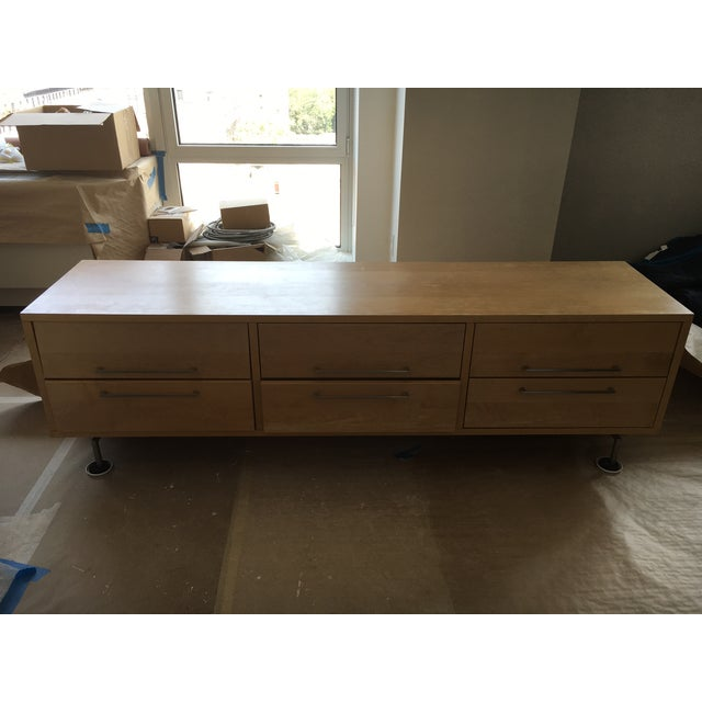 Room and Board Wooden Media Credenza - Image 2 of 3