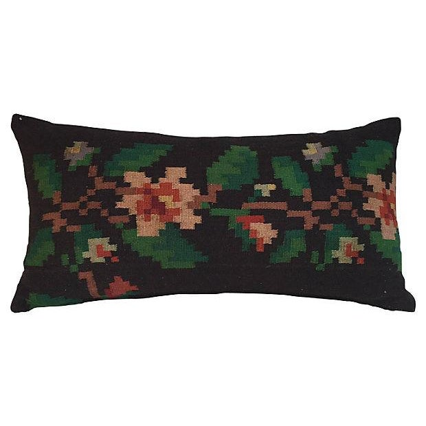 Floral Kilim Rug Pillow