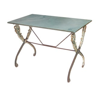 French Iron Swan Table