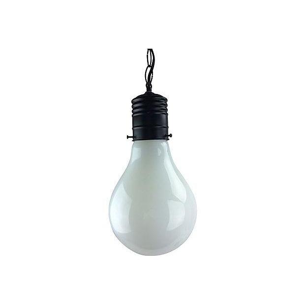1970s Pop Art Giant Lightbulb Pendant Light - Image 1 of 5