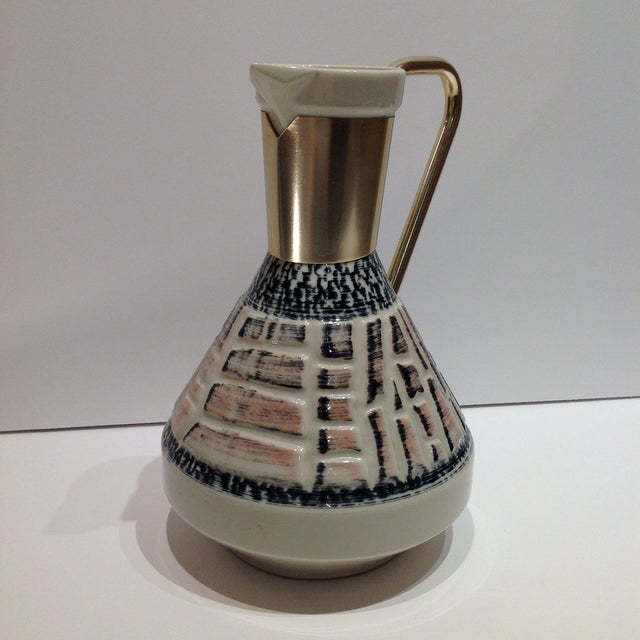 Mid-Century Pottery Pitcher - Image 4 of 7