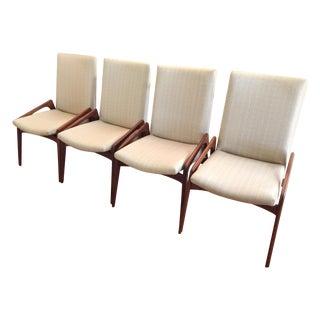 Grasshopper Walnut Chairs Kai Kristiansen - Set 4
