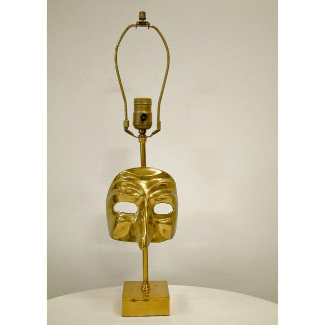 Commedia Dell'Arte Brass Mask Table Lamp - Image 4 of 9