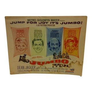 """Vintage """"Jumbo"""" 1962 Movie Poster"""