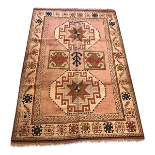 Anatolian Kars Turkish Semi-Antique Rug - 4'5'' X 6'5''