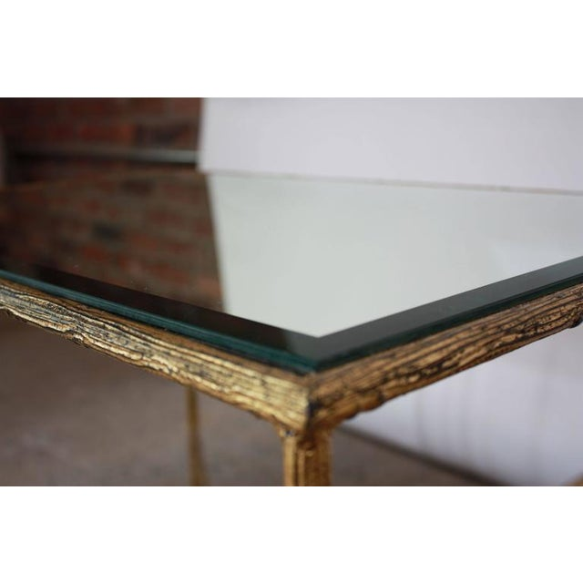 Pair of Italian Gilded X-Base Side Tables with Mirror Tops - Image 5 of 10