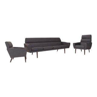 Danish Mid Century Modern Sofa Set - Set of 3