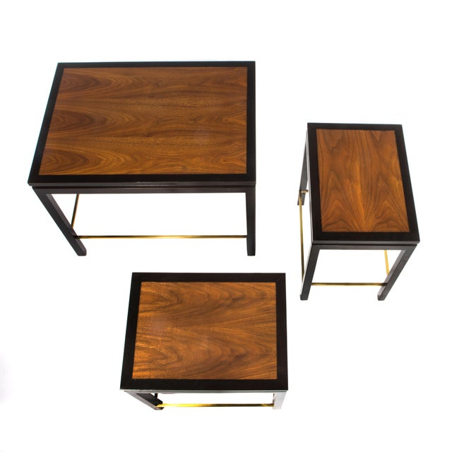 Image of SET OF THREE NESTING TABLES BY EDWARD WORMLEY FOR DUNBAR, CIRCA 1950S