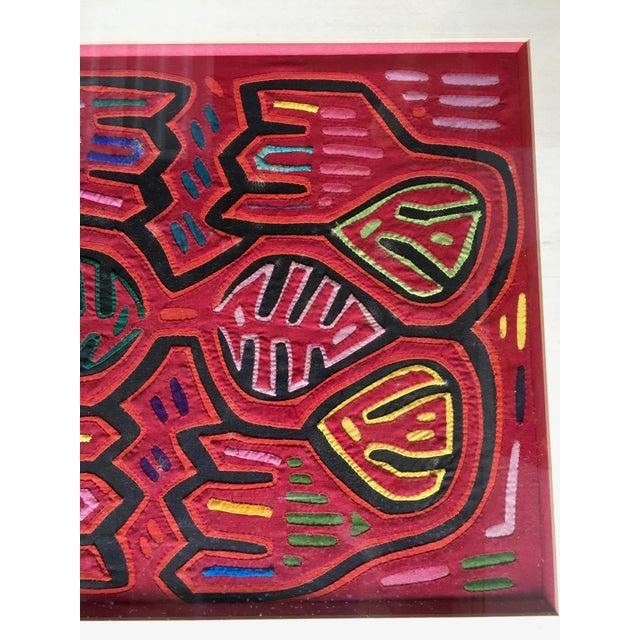 Vintage Indian Mola Framed Textile Art - Image 4 of 9