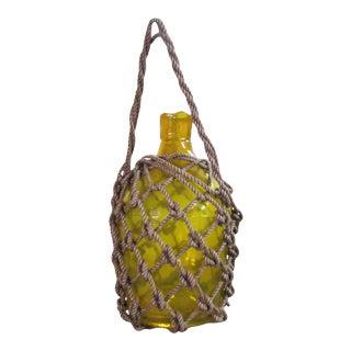 Nautical Yellow Roped Glass Bottle