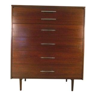 Mid-century Modern Walnut Highboy Dresser