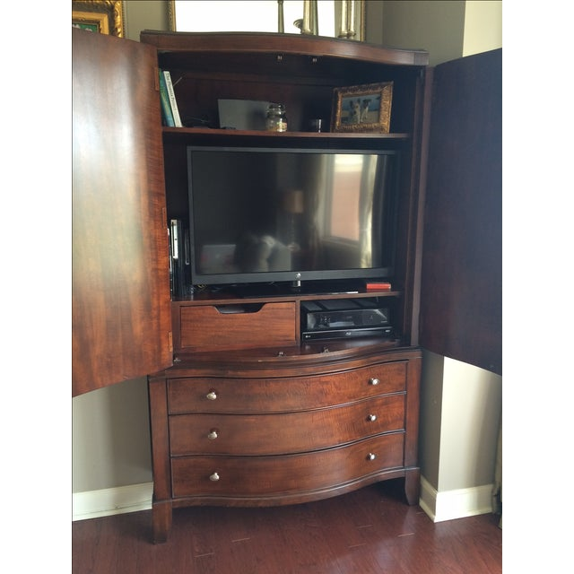 Large Solid Wood Armoire - Image 3 of 4